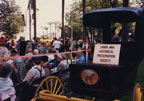 Buggy loaned by Santa Ana Historical Preservation Society for the rededication of the Old Orange County Courthouse, November 12, 1987