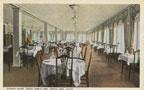 Postcard of the dining room at Saint Ann's Inn