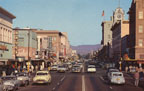 Santa Ana Calif. looking east on Fourth Street in the downtown shopping district about 1956.