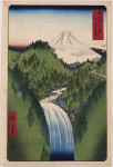 Waterfall in the mountains of Izu, number 22 from Thirty-six Views of Mt. Fuji