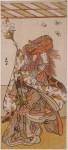 The actor Ichikawa Danzo IV as the lion dancer in The Stone Bridge