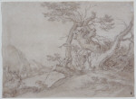 Study of an Old Tree with a Shepherd