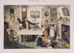 """The Bottle is Brought Out for the First Time: The Husband Induces His Wife """"Just to Take a Drop,"""" plate I from The Bottle"""