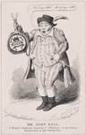 """Mr. John Bull, in Keeley's celebrated character of """"Willibald,"""" in the Popular Extravaganza of """"The Bottle Imp"""" from George Cruikshank's Table Book, number 11"""
