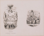 Title page (Second Series) and Seven Dials, undivided proofs for Sketches by Boz