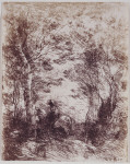 Le Petit Cavalier sous bois (Horseman in the Woods, Small Plate)