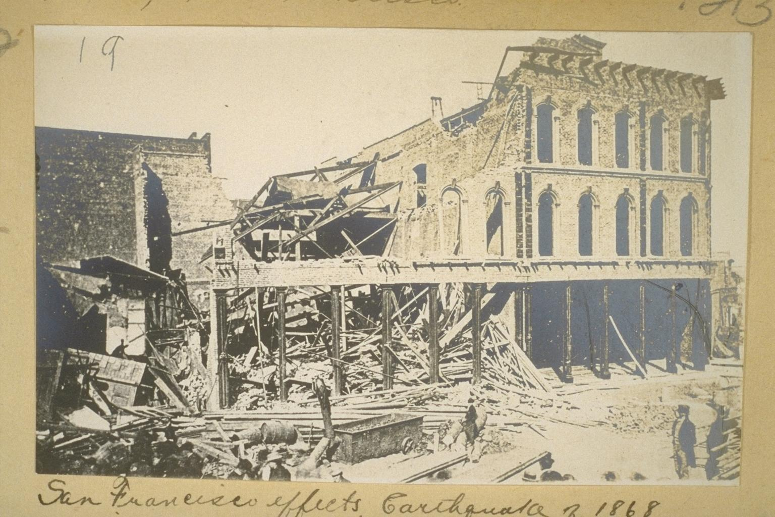 San Francisco effects Earthquake of <b>1868</b> 213