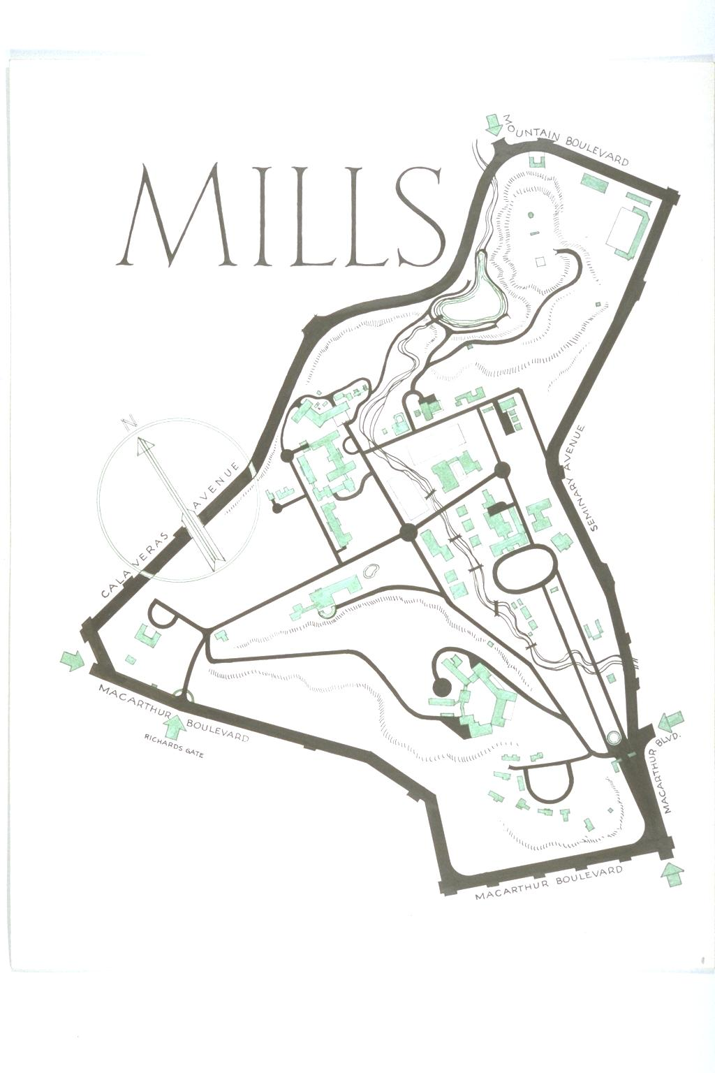 Map of Mills College :1