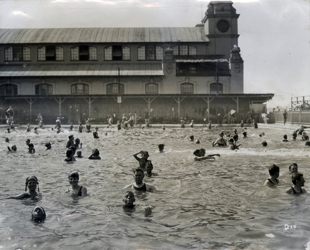 Larger Image & Childrenu0027s bathing pool and pavilion Tent City Coronado Calif ...