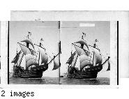"Columbus Flagship ""Santa Maria', Columbus Naval Parade. New York Harbor, U.S.A.  U.S. Navy."