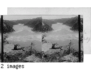 Overlooking the whirlpool and down Niagara's Gorge from Canadian Shore, Niagara Falls, N.Y.