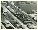 An aerial view of the G. W. Hume Company in Turlock, California, circa 1938.