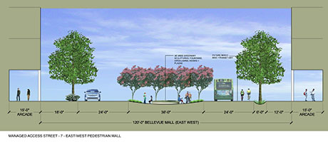 Managed Access Street - East/West Bellevue Pedestrian Mall
