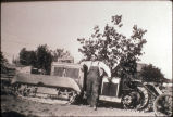 Harrison Reynolds on tractor