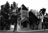 Photograph of the first Presbyterian Church in Placentia