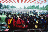 Slide of graduation ceremony taken from behind the faculty
