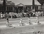The Girl Scout Troop in the 1947 Cherry Festival Parade.