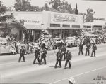 The 1947 Cherry Festival Parade with the Flag and Color Guard.