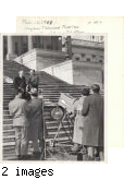 Henry on steps of U.S. Capital during an early televised Congress
