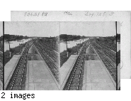 Looking W. (near Clyde, N.Y.) from R.R. Signal Bridge to N.Y.C. R.R. tracks and Barge Canal.