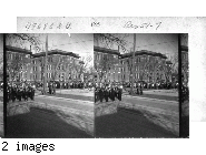 Centennial High School, Pueblo, Colo.  School is on 11th & Grand St., about 850 pupils attend this school.  Band of 50 pieces in uniform in foreground.