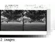 Cuba - Province of Havana - Havana: The Paseo del Prado, the broad avenue which runs from the Parque Central (Central Park) near the capitol down to the waterfront where the Malecon begins, is centered with this tree-shaped walk on either side of which runs a wide street for vehicular traffic, which nowadays consists largely of the latest Mode [model] American automobiles.