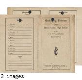 1921 graduating exercises program