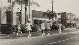 Majorettes at Armistice Day Parade, Azusa, 1941