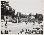 The 1948 Cherry Festival Parade, with the Beaumont Union High School Band.