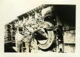 Arthur Fredrick Domries helps construct the Old Don Pedro Dam, circa 1922.