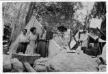 Upland Photograph Events; Three women camping in San Antonio Canyon / Esther Boulton Black Estate