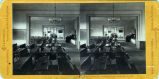 Eadweard Muybridge stereoscopic photograph of Mills Hall interior