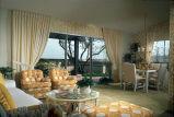 [Montiel Patio Homes, plan C model home living room slide].