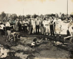 "The Beaumont High School football team's """"Rally in the Mud"""" contest in Beaumont, California"