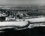 Aerial view of Coronado looking east over San Diego Bay, 1960 November 19.