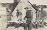 Washing messkits, Camp Ord, Calif.
