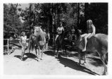 Girls on horses in Cuyamaca Rancho State Park