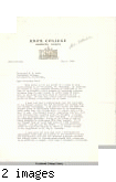 Letter from Charles J. Adamec, Dean, Knox College, to Remsen Bird, May 6, 1942