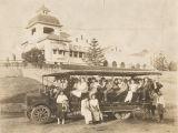 Students in open truck, Citrus Union High School, 1915
