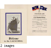 S.S. Occidental Victory launching program, April 23, 1945