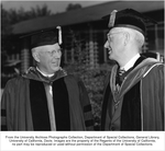 Charter Day, Chief Justice Earl Warren, left, Robert Gordon Sproul, right