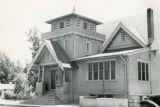 The First Baptist Church of Banning, California, which was located on the southwest corner of Murray and Ramsey Streets