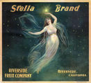 "Crate label, ""Stella Brand."" Riverside Fruit Company. Riverside, Calif."