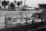 Civic Center, foundation construction, Inglewood, California