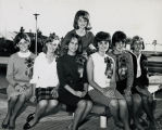 Photograph of six Home Coming Queen Candidates and one other female student.