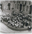 Photograph of the Los Angeles Philharmonic in rehearsal at the Odeon of Herod Atticus Amphitheater in Athens