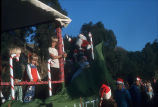 [Santa Claus float in Christmas Parade, 1974 slide].