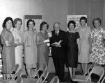Rosemary De Camp and Commerce library employees