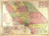 Rand, McNally New Commercial Atlas Map of California, 1914 Details of San Diego, Los Angeles & vicinity