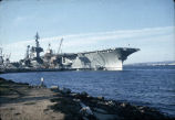 USS Constellation (CV 64) at her home port of San Diego, February 1966